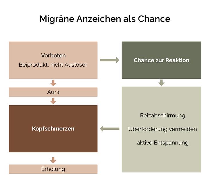 Migräne Anzeichen als Chance